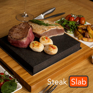Steak Slab™ Hot Stone Cooking Steak Grill Plate