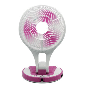 Portable Rechargeable Desktop Fan with LED light