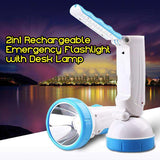2in1 Rechargeable Emergency Flashlight with Desk Lamp