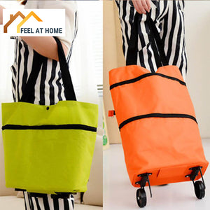 Lightweight Foldable Compact Shopping Cart and Bag