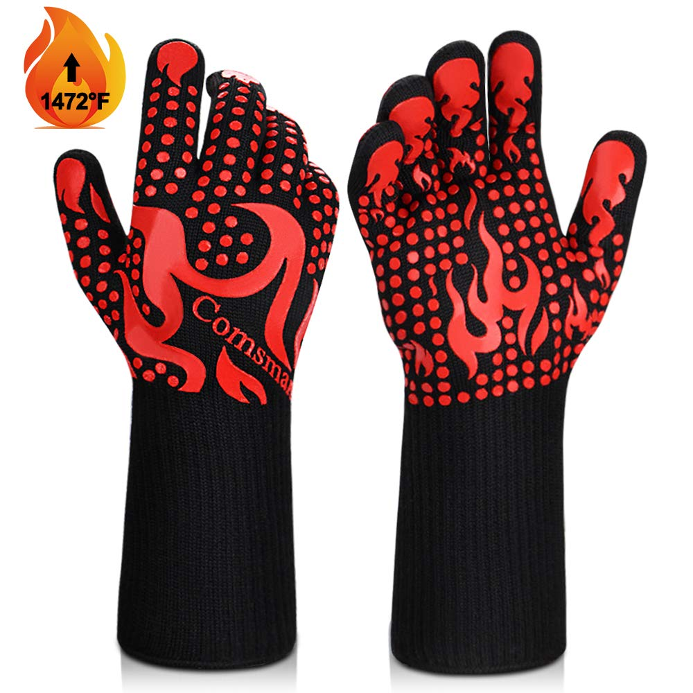 Heat Resistant Grilling Silicone Non-Slip Long Kitchen Gloves