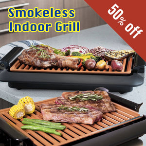 Fast BBQ™ Smokeless Low Fat Indoor Grill
