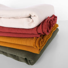 Stack of our Textured Cotton Double Cloth