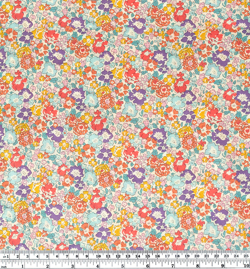 Michelle Tana Lawn Cotton - Grape/Baby Blue/Multi