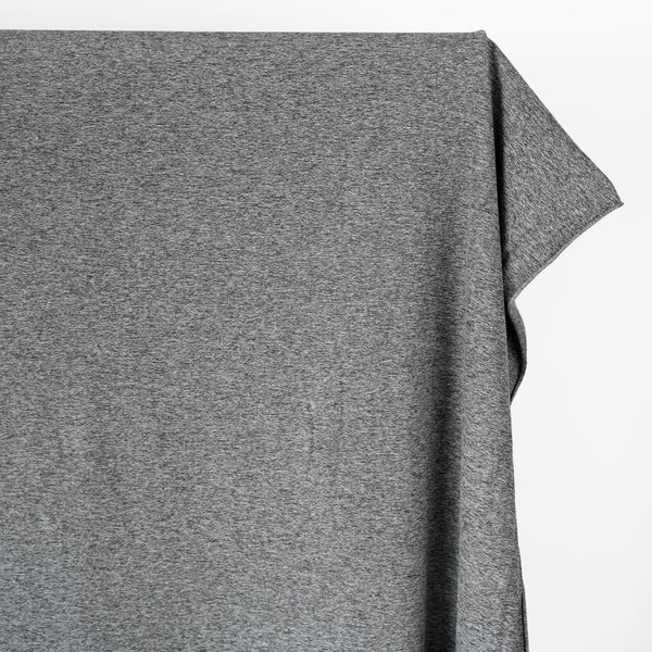 Heathered Athletic Knit - Medium Grey