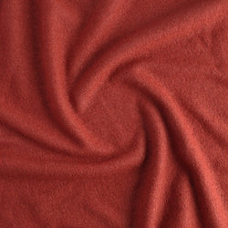 Lightweight Boiled Wool & Viscose - Red Clay