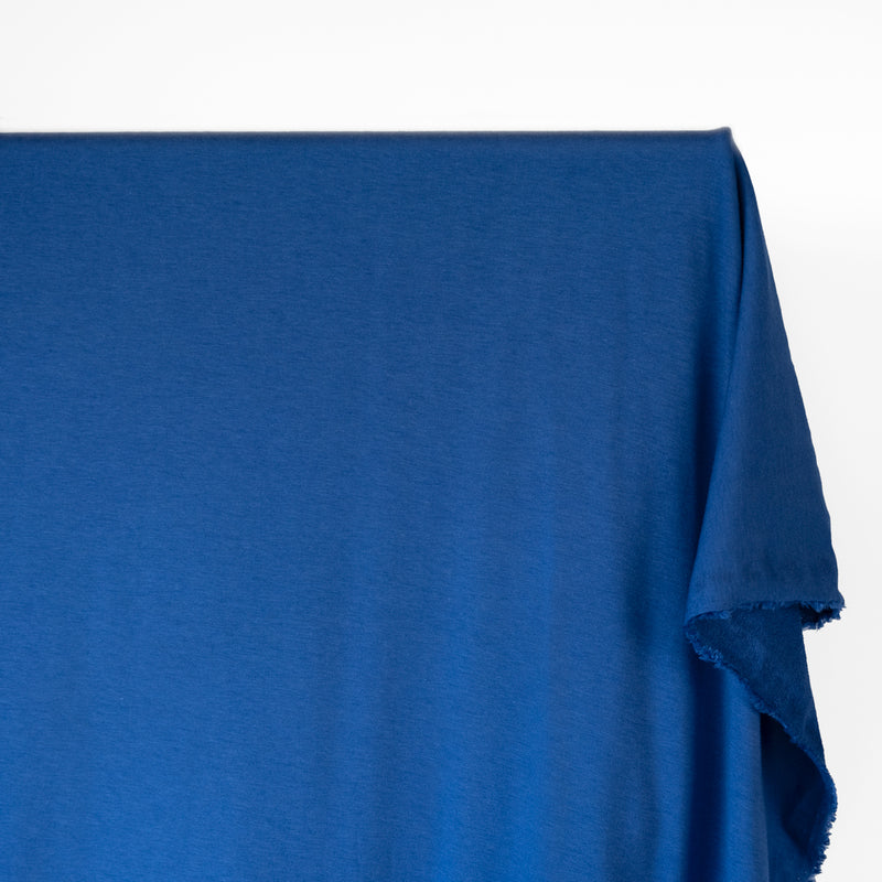 Bamboo & Cotton French Terry - Cobalt