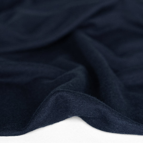Bamboo & Cotton French Terry - Navy