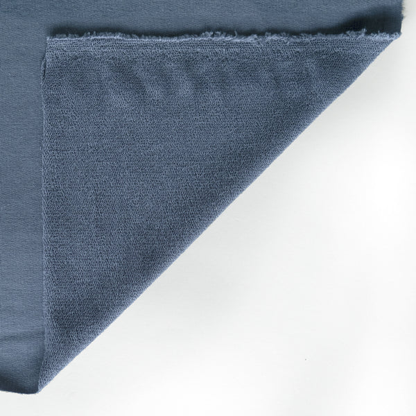 Bamboo & Cotton French Terry - Slate Blue