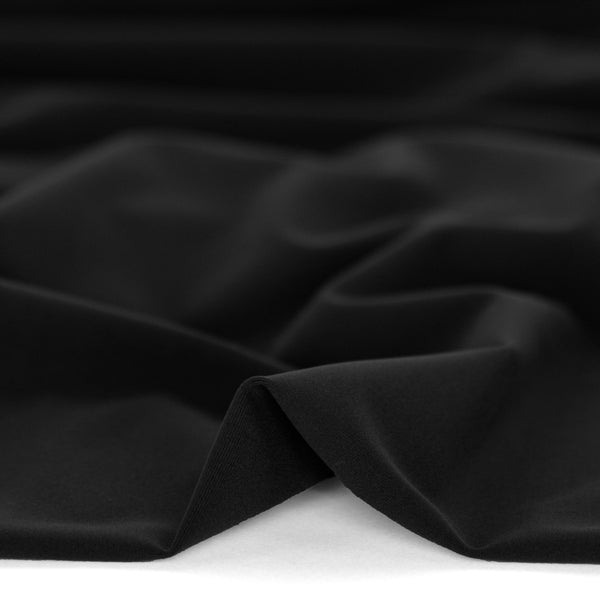 Recycled Nylon Athletic Knit - Black | Blackbird Fabrics