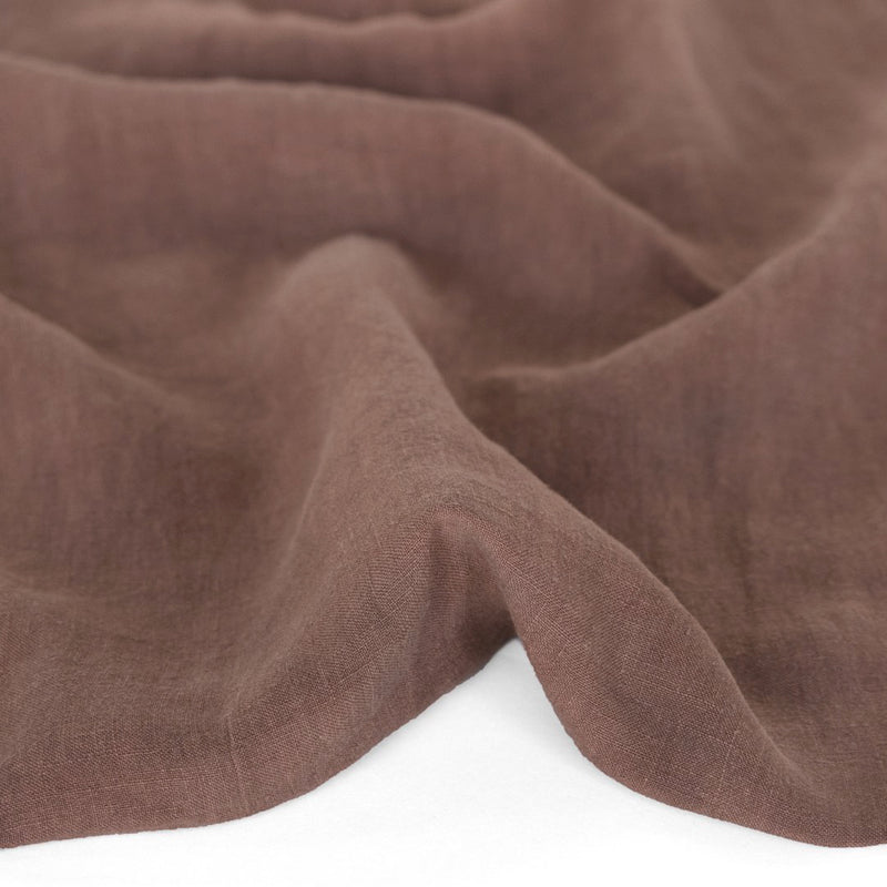 Washed Linen - Mauve Brown | Blackbird Fabrics