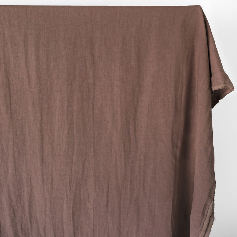 Washed Linen - Mauve Brown