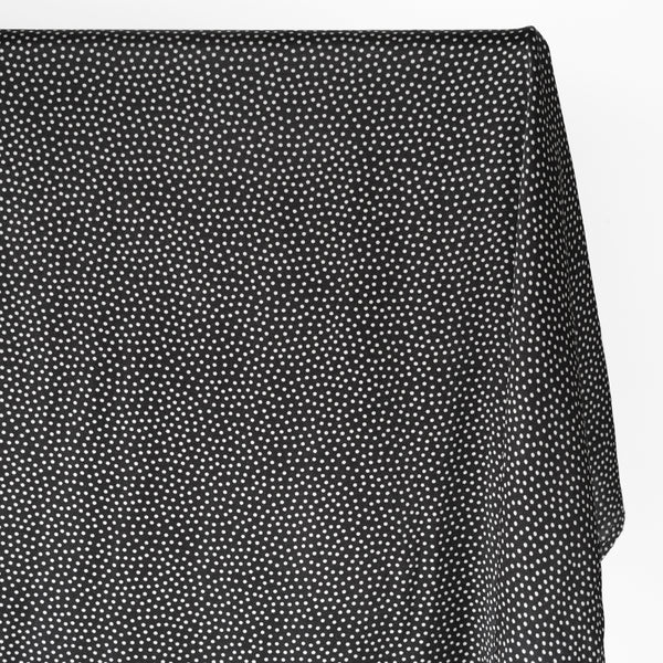 Polka Dot Printed Ecovero Satin - Black/White