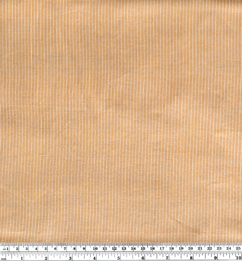 Mini Striped Handwoven Cotton - Camel | Blackbird Fabrics