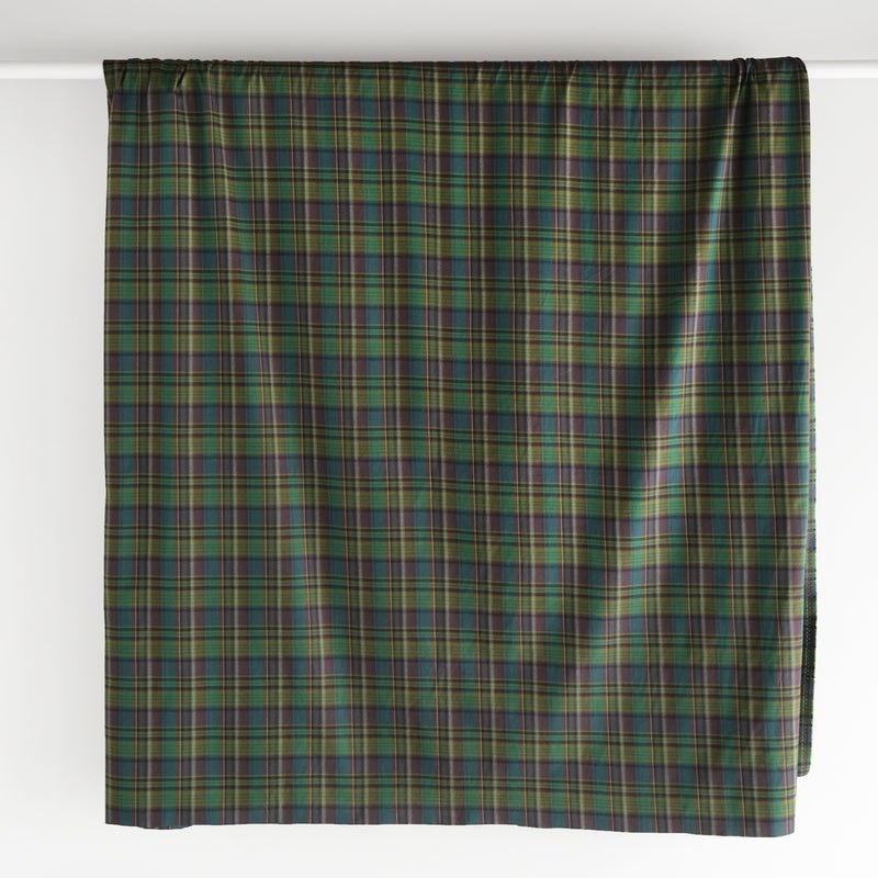 Deadstock Plaid Brushed Cotton Shirting - Green/Multi