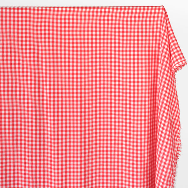 Deadstock Gingham Rayon - Red/White