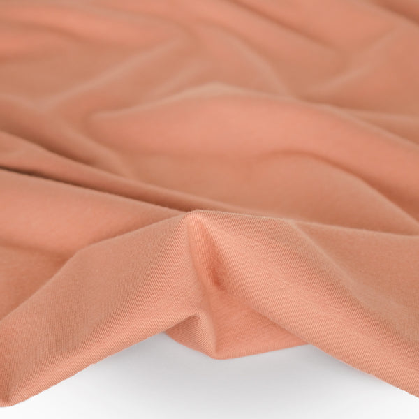 Cotton Modal Jersey Knit - Dusty Peach
