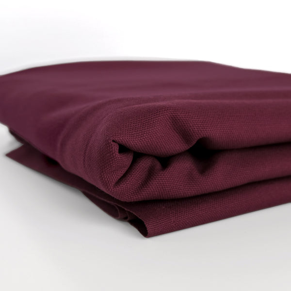10oz Organic Cotton Duck Canvas - Malbec
