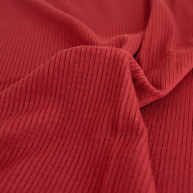 Lightweight Modal Rib Knit - Madder