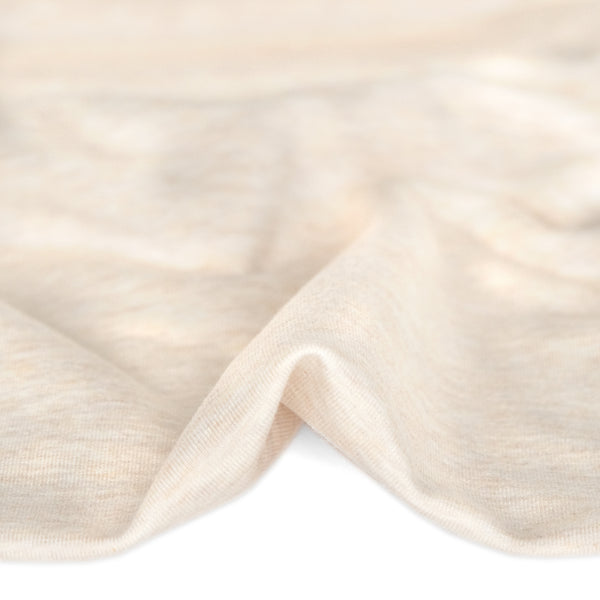 Bamboo & Cotton Stretch Fleece - Heather Almond