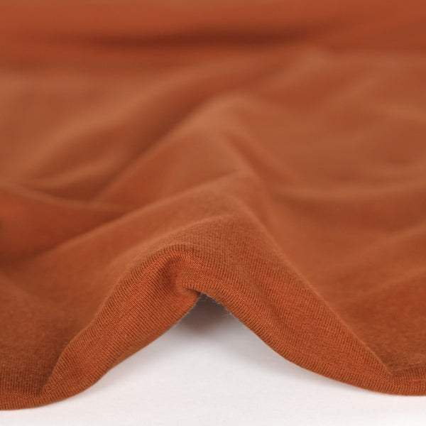 Bamboo & Cotton Stretch Fleece - Terracotta