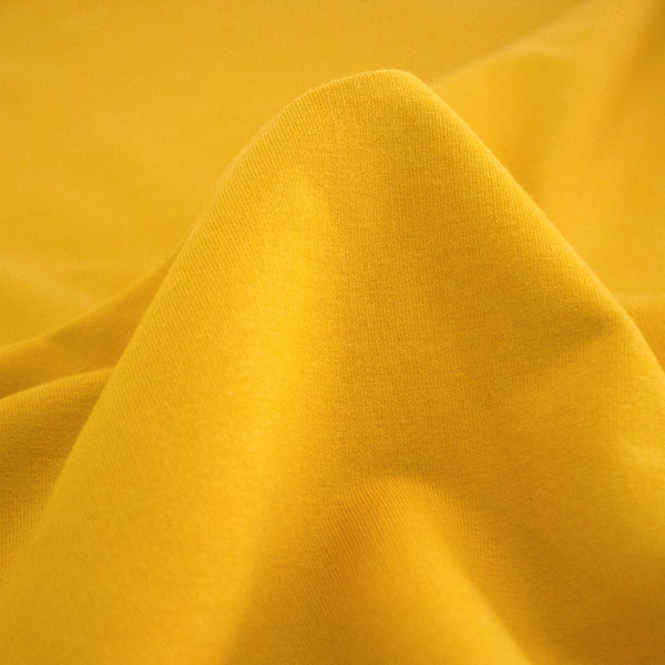 Bamboo & Cotton Stretch Fleece - Turmeric