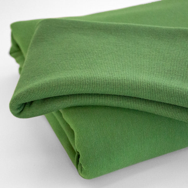 Bamboo & Cotton 2x2 Ribbing - Leaf Green