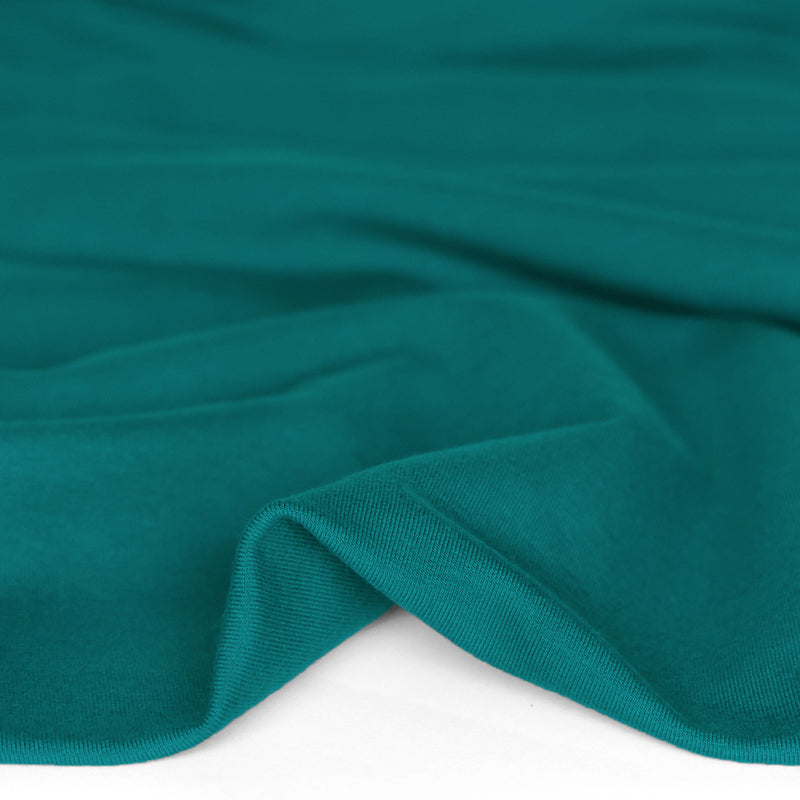 Bamboo & Cotton Stretch Fleece - Teal