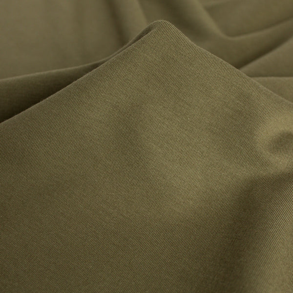 Bamboo & Cotton Stretch Fleece - Light Olive