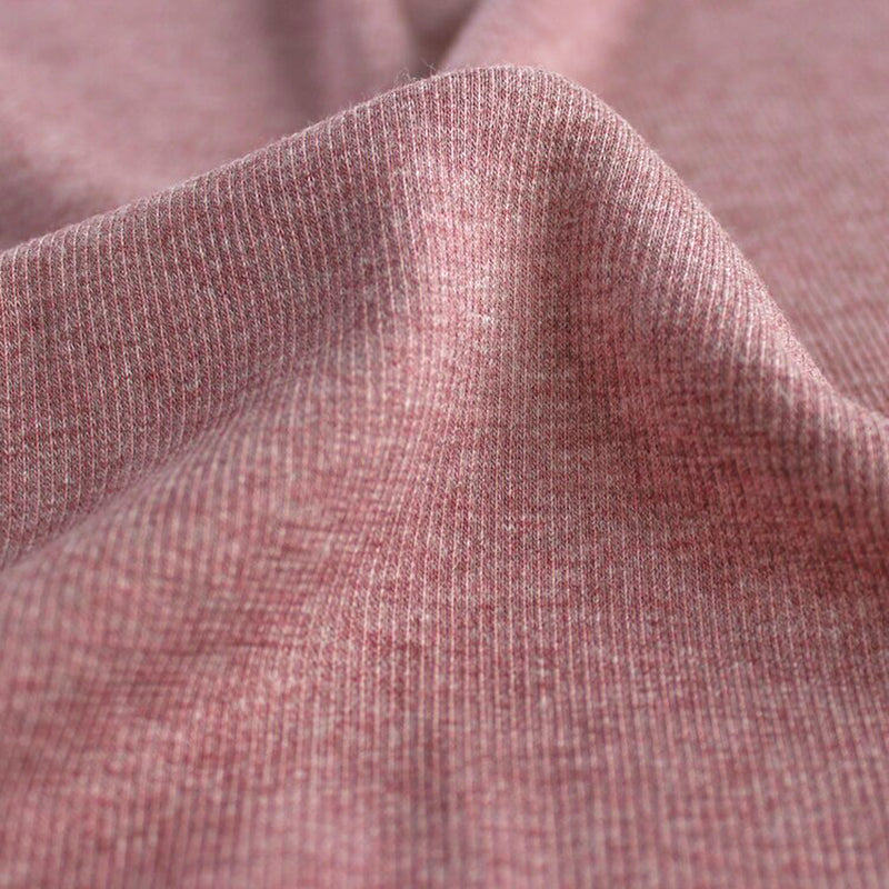Bamboo & Cotton 2x2 Ribbing - Heather Dusty Rose