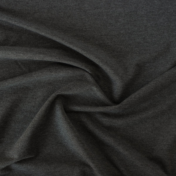 Tencel & Organic Cotton French Terry - Heather Charcoal