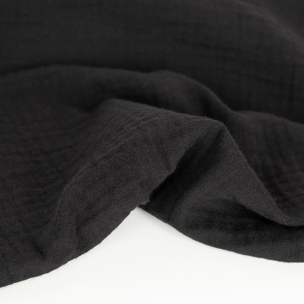 Organic Cotton Double Gauze  - Black