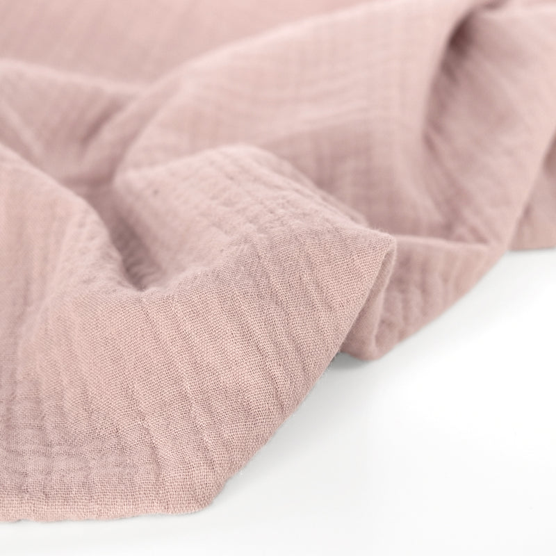 Organic Cotton Double Gauze  - Dusty Rose
