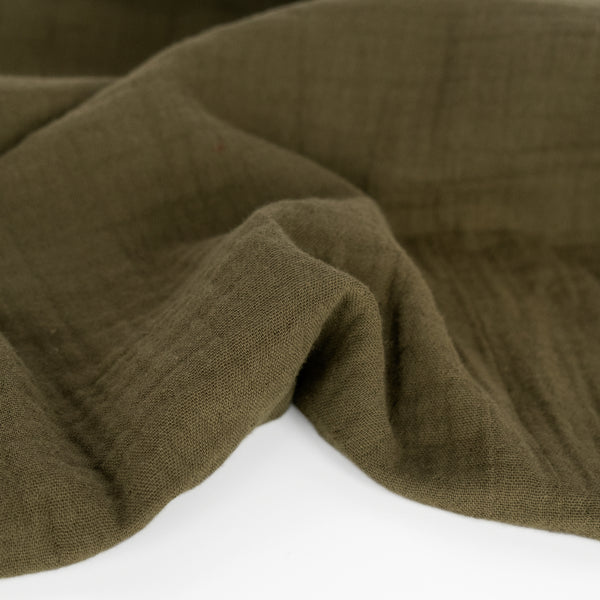 Organic Cotton Double Gauze  - Olive