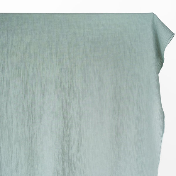Organic Cotton Double Gauze - Dusty Jade | Blackbird Fabrics