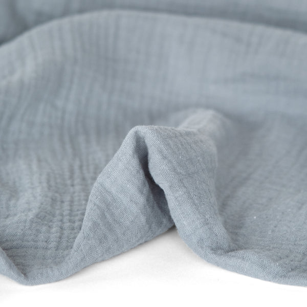 Organic Cotton Double Gauze - Powder Blue | Blackbird Fabrics