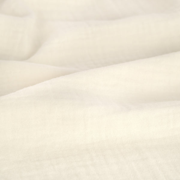 Organic Cotton Double Gauze  - Ivory