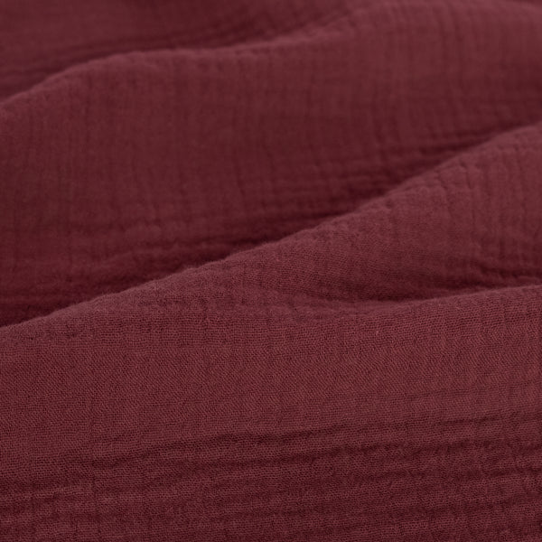 Organic Cotton Double Gauze  - Merlot