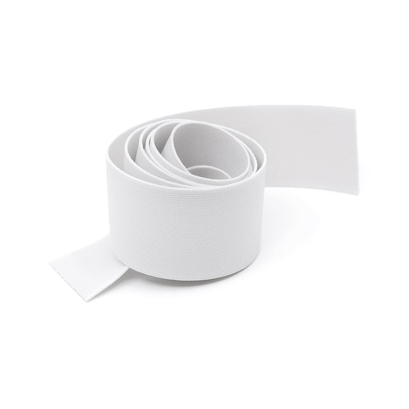"2"" (50mm) Soft Woven Elastic - White - 1 meter"