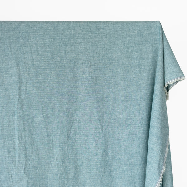 Hemp & Organic Cotton Chambray - Teal