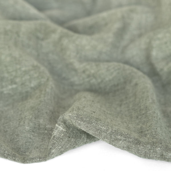 Hemp & Organic Cotton Chambray - Forest
