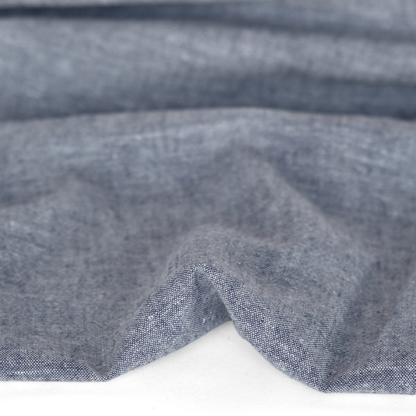 Hemp & Organic Cotton Chambray - Navy