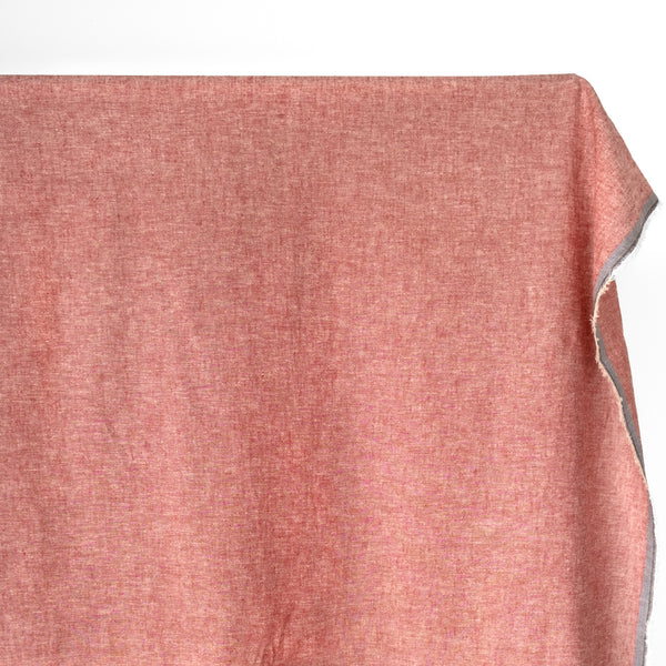 Hemp & Organic Cotton Chambray - Ruby