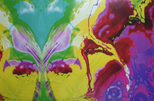 Afbeelding in Gallery-weergave laden, Flexfolie met print - Abstract paars