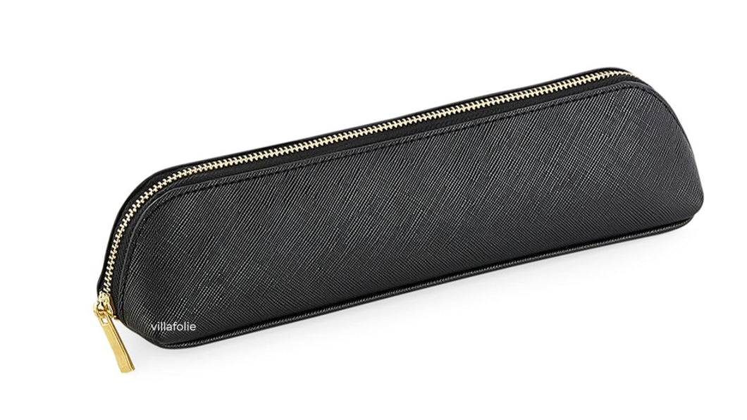 Boutique Mini Accessory Case Black | Lederlook etui zwart goud