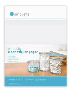 Printbare stickervellen - Silhouette Clear Sticker Paper