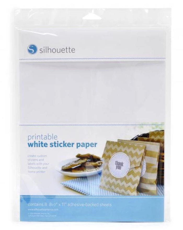 Printbare stickers wit - Silhouette Printable White Sticker Paper