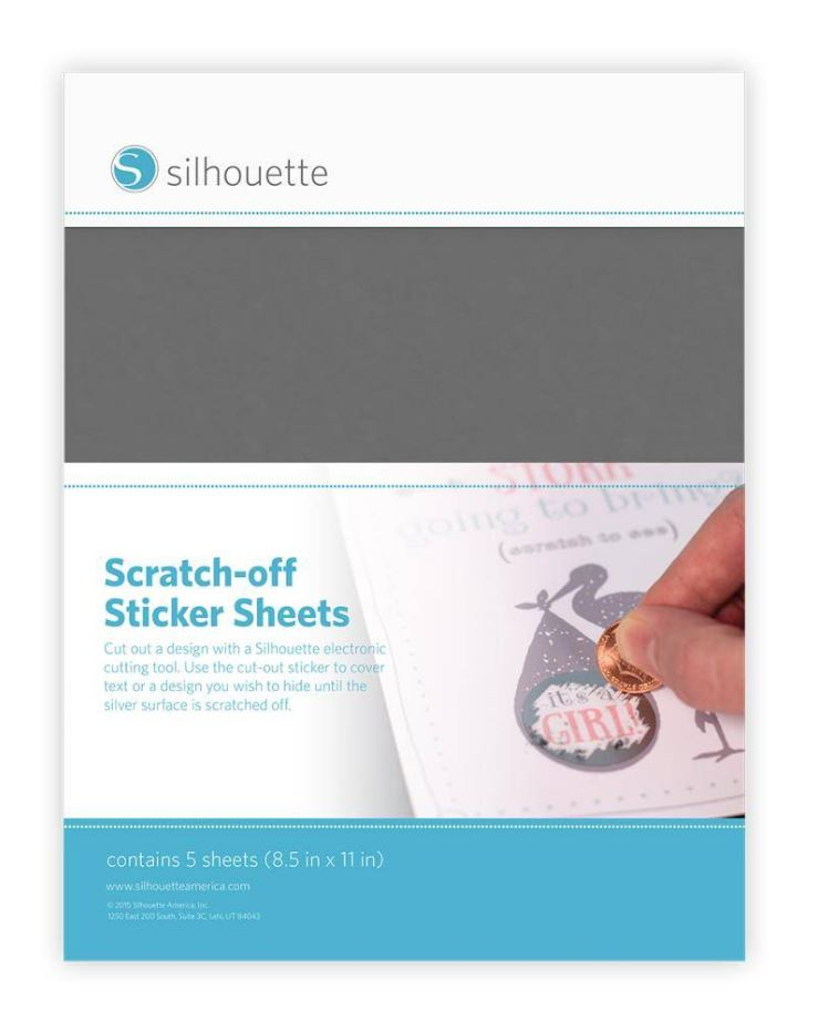 Scratch-off Sticker Sheets - Silver