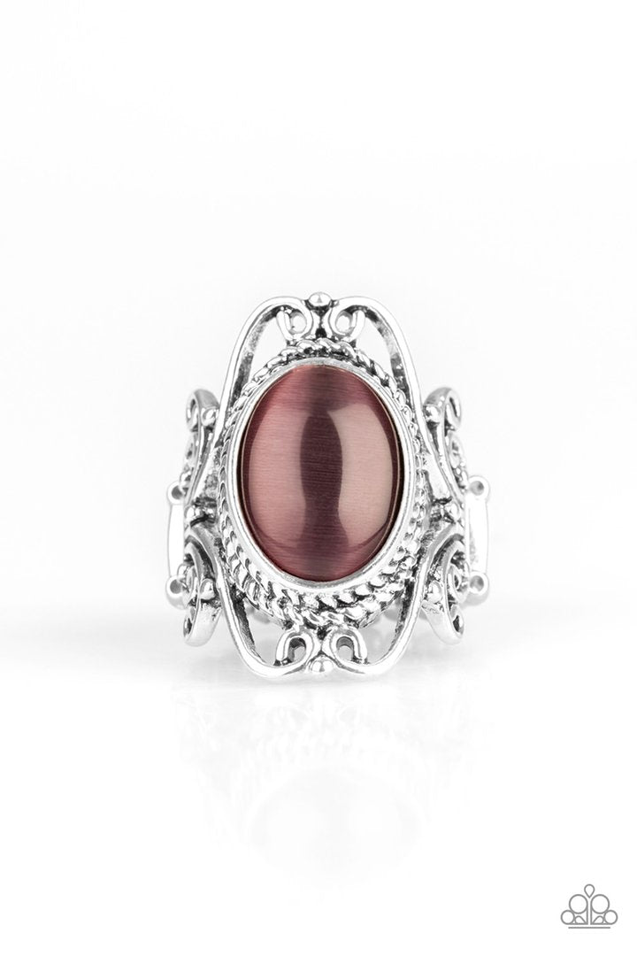 Paparazzi Fairytale Flair - Purple Cat's Eye Stone - Ring - 2019 Convention Exclusive
