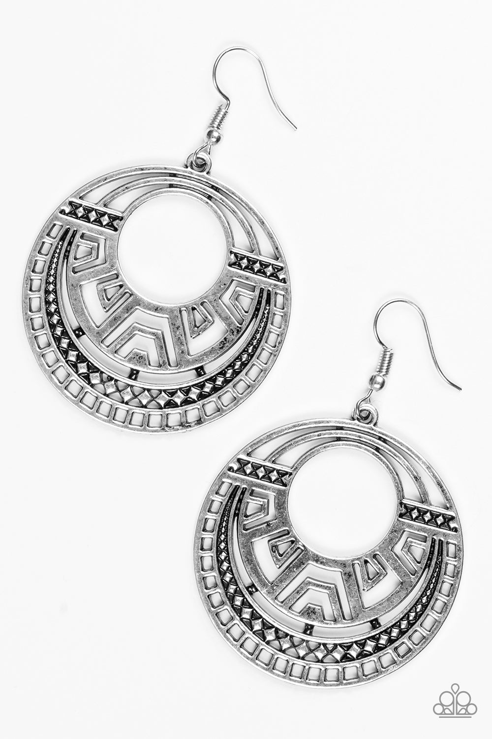 Paparazzi Modernly Mayan - Silver - Studio Bling by Glam With Mack